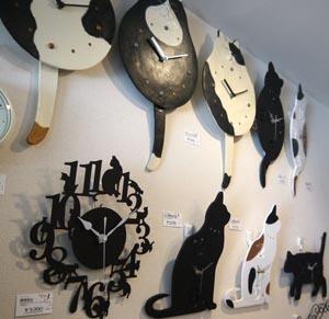 猫雑貨時計