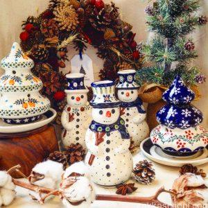 episクリスマスポーランド陶器